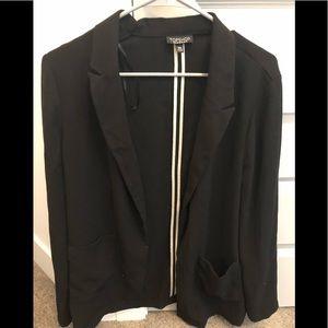 Topshop oversized unstructured blazer - size 10